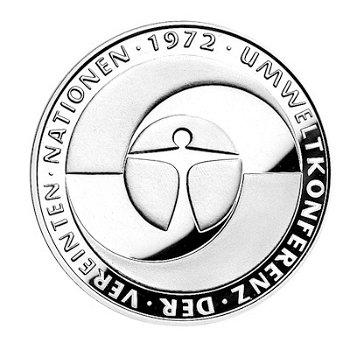 """5-DM-Münze """"10. Jahrestag Umweltschutz-Konferenz"""", Stempelglanz"""