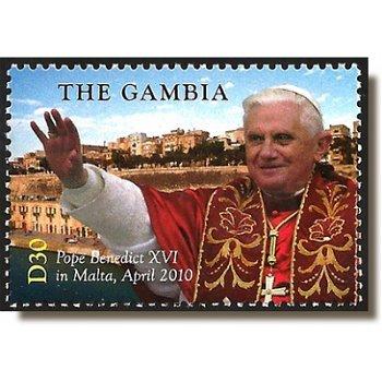 Papst Benedikt XVI. besucht Malta - Briefmarke postfrisch, Gambia