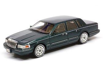 Modellauto:Lincoln Continental von 1997, grün(GLM, 1:43)