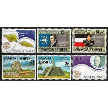 Jahrestage – sechs Briefmarken postfrisch, Katalog-Nr. 427-432, Samoa