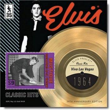 """Elvis Presley """"Viva Las Vegas"""" - Briefmarken-Block postfrisch, St. Vincent und Grenadinen"""