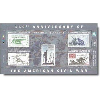 150 Jahre amerikanischer Bürgerkrieg – Briefmarken-Block postfrisch, Marshall-Inseln