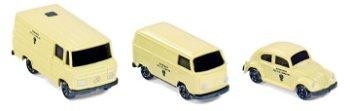 Modellauto-Set:MB L 406, VW Käfer und VWT2 Kasten(Wiking, 1:160 N Spur)