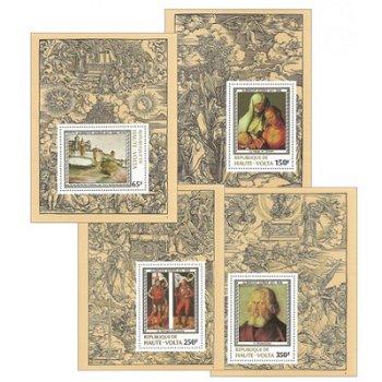 450. Todestag von Albrecht Dürer - 4 Luxusblocks postfrisch, Katalog-Nr. 732-735, Obervolta