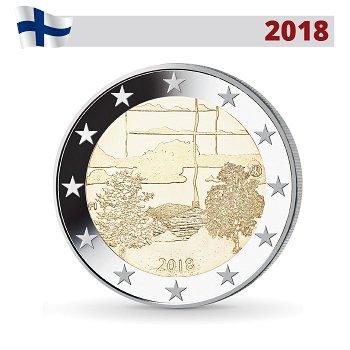 Finnische Saunakultur, 2 Euro 2018, Finnland