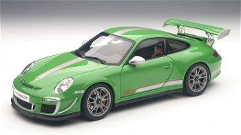 Modellauto:Porsche 911 (997) GT3 RS 4.0 von 2011, grün(AUTOart, 1:18)