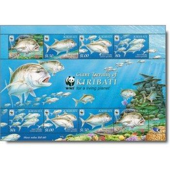 Dickkopf-Stachelmakrele - Briefmarken-Block postfrisch, Kiribati