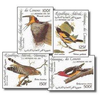 200. Geburtstag von John James Audubon - Briefmarken ungezähnt postfrisch, Katalog-Nr. 726-729, Komo