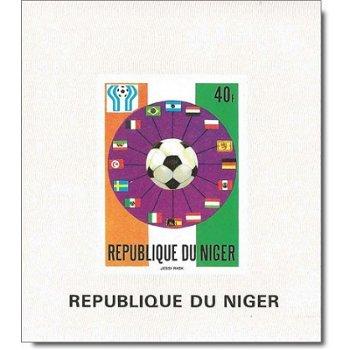 Fußballweltmeisterschaft 1978 - 4 Luxusblocks postfrisch, Katalog-Nr. 619-622, Niger