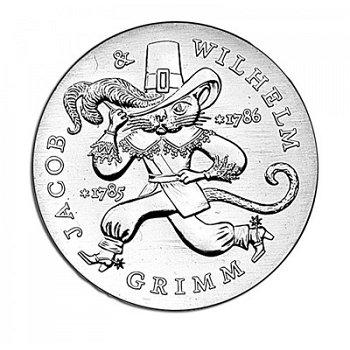 200. Geburtstag Gebrüder Grimm, 20 Mark Münze 1986, DDR