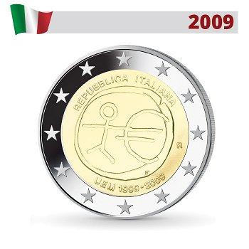 Wirtschafts- und Währungsunion, 2 Euro Münze 2009, Italien