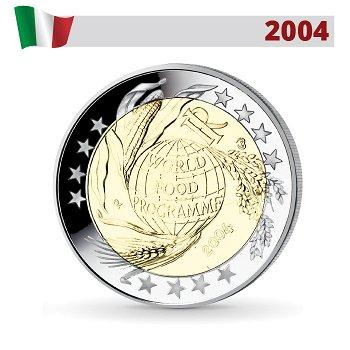 Welternährungsprogramm, 2 Euro Münze 2004, Italien