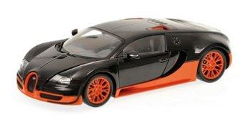 Modellauto:Sport von 2011Bugatti Veyron Super , carbon-orange(Minichamps, 1:18)