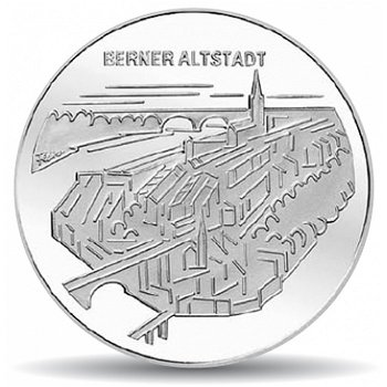 Berner Altstadt, 20 Franken Münze 2003 Schweiz, Stempelglanz