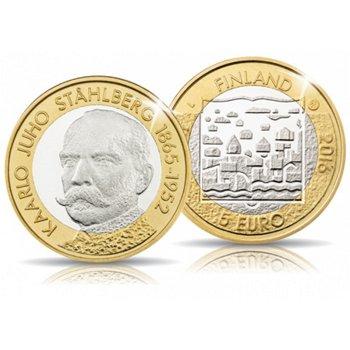 Präsident Stahlberg, 5 Euro Münze, Finnland