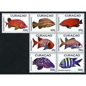 Fische – Briefmarken postfrisch, Katalog-Nr. 74-80, Curacao