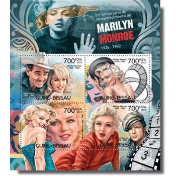 Marilyn Monroe - Briefmarken-Block postfrisch, Katalog-Nr. 6092-6095, Guinea-Bissau