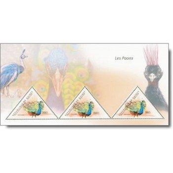 Pfauen - Briefmarken-Block postfrisch, Guinea