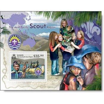 Pfadfinder I - Briefmarken-Block postfrisch, Salomon-Inseln