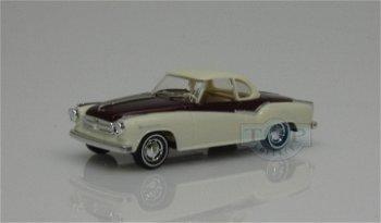 Modellauto:Borgward Isabella Coupé, dunkelrot-beige(Busch, 1:87)