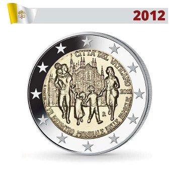 2 Euro Münze 2012, Weltfamilientreffen, Vatikan