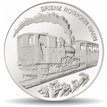 Brienz Rothorn Bahn, 20 Franken Münze 2009 Schweiz, Polierte Platte