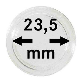 Münzkapseln,10er Pack für 1 €-Münzen, LI 2250235P