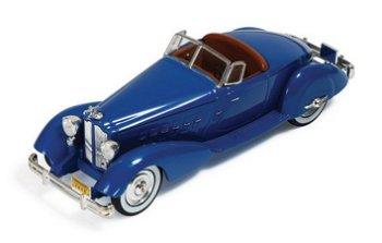 Modellauto:Packard V12 Le Baron Speedster von 1934, blau(IXO Museum, 1:43)