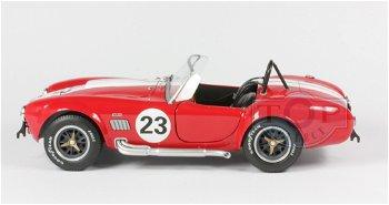 Modellauto:Shelby Cobra 427 von 1965 mit # 23, rot(Solido,1:18)