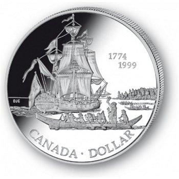 Fregatte Santiago - Silberdollar 1999, 1 Dollar Silbermünze, Canada