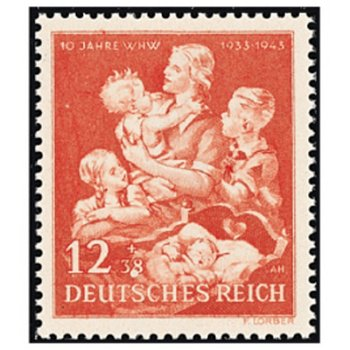 10 Jahre Winterhilfswerk - Briefmarke, Katalog-Nr. 859, postfrisch, Deutsches Reich
