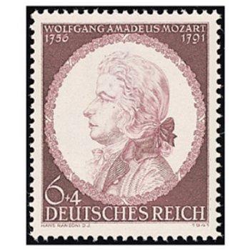 150. Todestag W. A. Mozart - Briefmarke, Kat-Nr. 810 postfrisch, Deutsches Reich