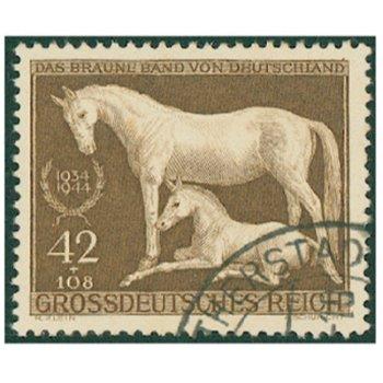 """Rennen um """"Das Braune Band"""" 1944 - Briefmarke, Katalog-Nr. 899, gestempelt, Deutsches Reic"""