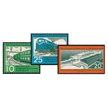 125 Jahre Deutsche Eisenbahn - Katalog-Nr. 804-06 postfrisch, DDR