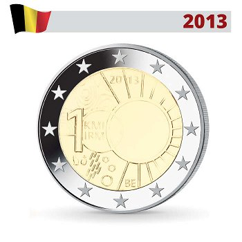 100 Jahre Königliches Meteorologisches Institut, 2 Euro Münze 2013, Belgien