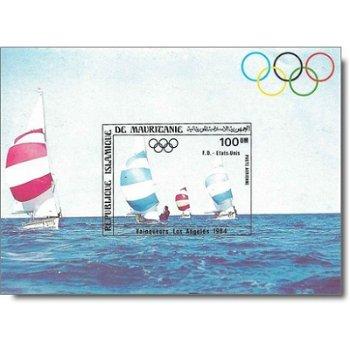 """Goldmedaillengewinner der Segelwettbewerbe """"Olympische Spiele, Los Angeles"""" - Briefmarken-"""