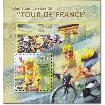 100. Tour de France/Bradley Wiggins - Briefmarken-Block postfrisch, Niger