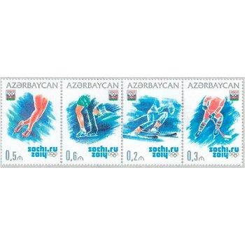 Winterspiele 2014 - 4 Briefmarken postfrisch, Aserbaidschan