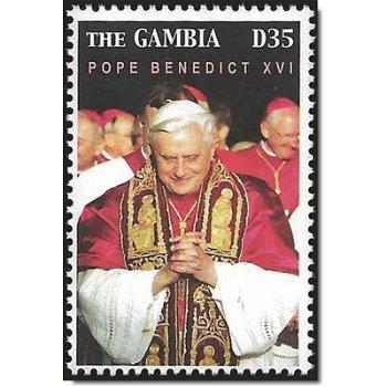Wahl von Papst Benedikt XVI. - Briefmarke postfrisch, Katalog-Nr. 5611, Gambia