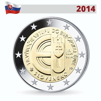 2-Euro-Münze 2014, 10 Jahre EU-Beitritt, Slowakei