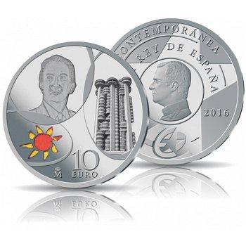 Modernes 20. Jahrhundert: Salvador Dali, 10 Euro Silbermünze, Spanien