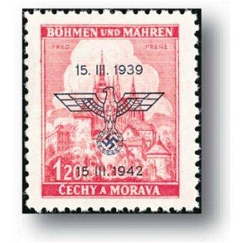 3. Jahrestag der Errichtung des Protektorates - 2 Briefmarken postfrisch, Katalog-Nr. 83 - 84, Böhme