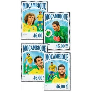 Fußball - 4 Briefmarken postfrisch, Mocambique