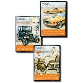 Henry Ford - 3 Briefmarken postfrisch, Guinea