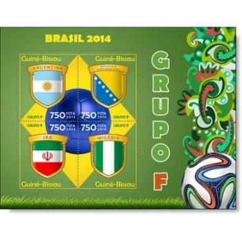 Fußball-Weltmeisterschaft, Gruppe F - Briefmarken-Block postfrisch, Guinea-Bissau