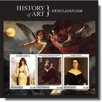 History of Art - Neoclassicism - Briefmarken-Block postfrisch, Micronesien