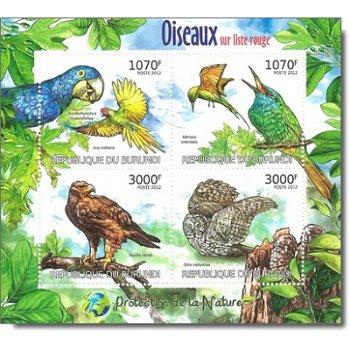 Vögel - Briefmarken-Block postfrisch, Burundi