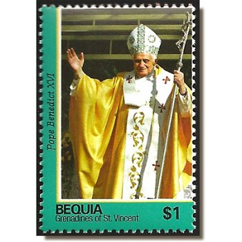 Papst Benedikt XVI. - Briefmarke postfrisch, St. Vincent & Grenadinen