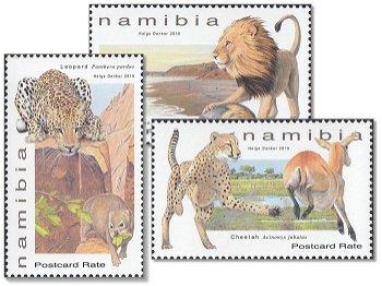 Raubkatzen - 3 Briefmarken postfrisch, Namibia