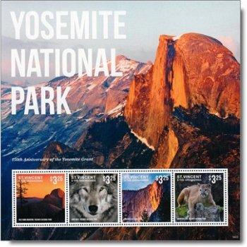 150 Jahre Yosemite National Park - Briefmarken-Block postfrisch, St Vincent & Grenadinen